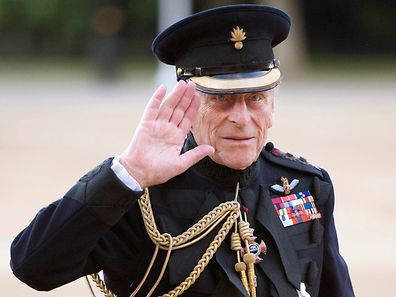FILE PHOTO -  Britain's Prince Philip arrives on the eve of his 90th birthday to take the salute of the Household Division Beating Retreat on Horse Guards Parade in London in this June 9, 2011 file photo. REUTERS/Paul Edwards/Pool/Files      TPX IMAGES OF THE DAY