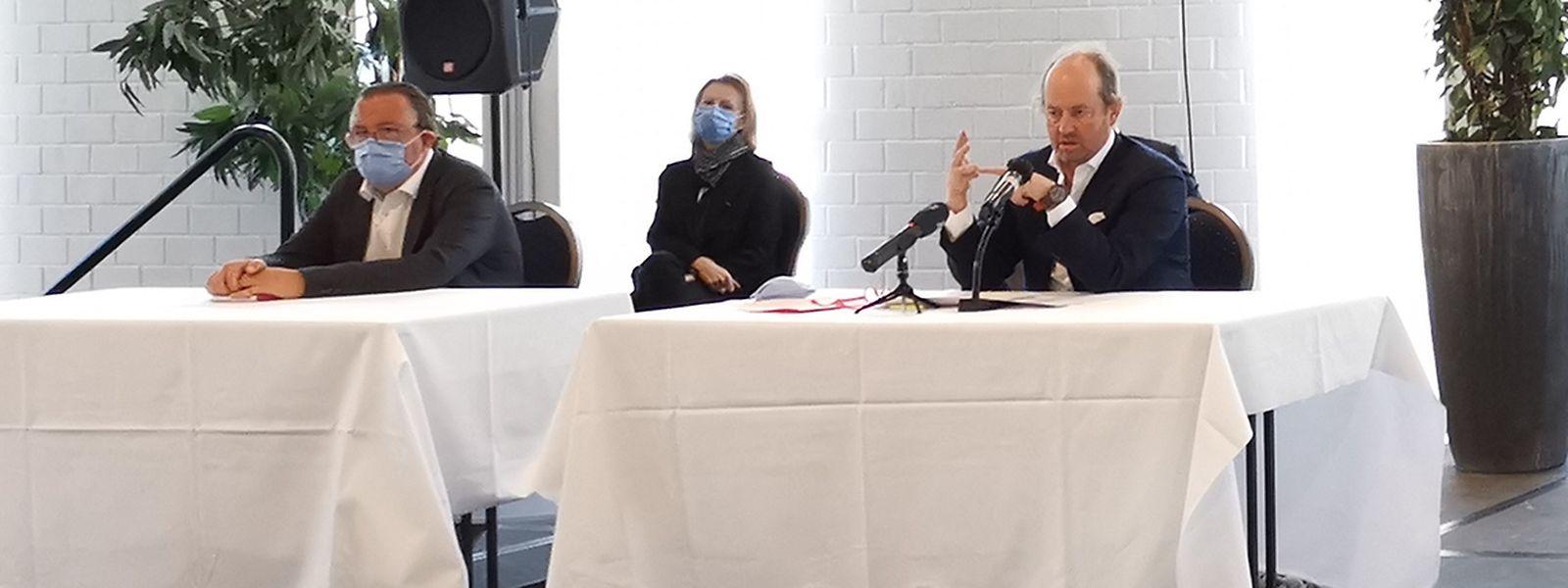 Jean-Louis Schiltz (r.) während der Pressekonferenz am Donnerstag.
