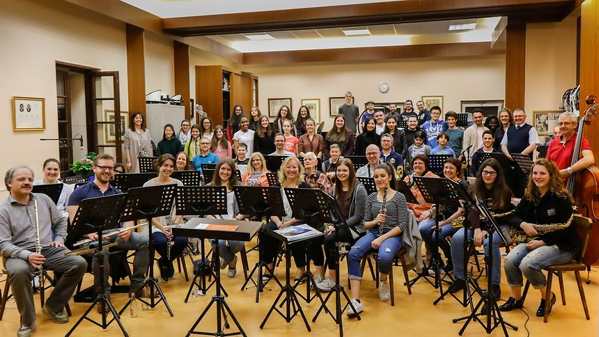 Some of the World Choir and orchestra members