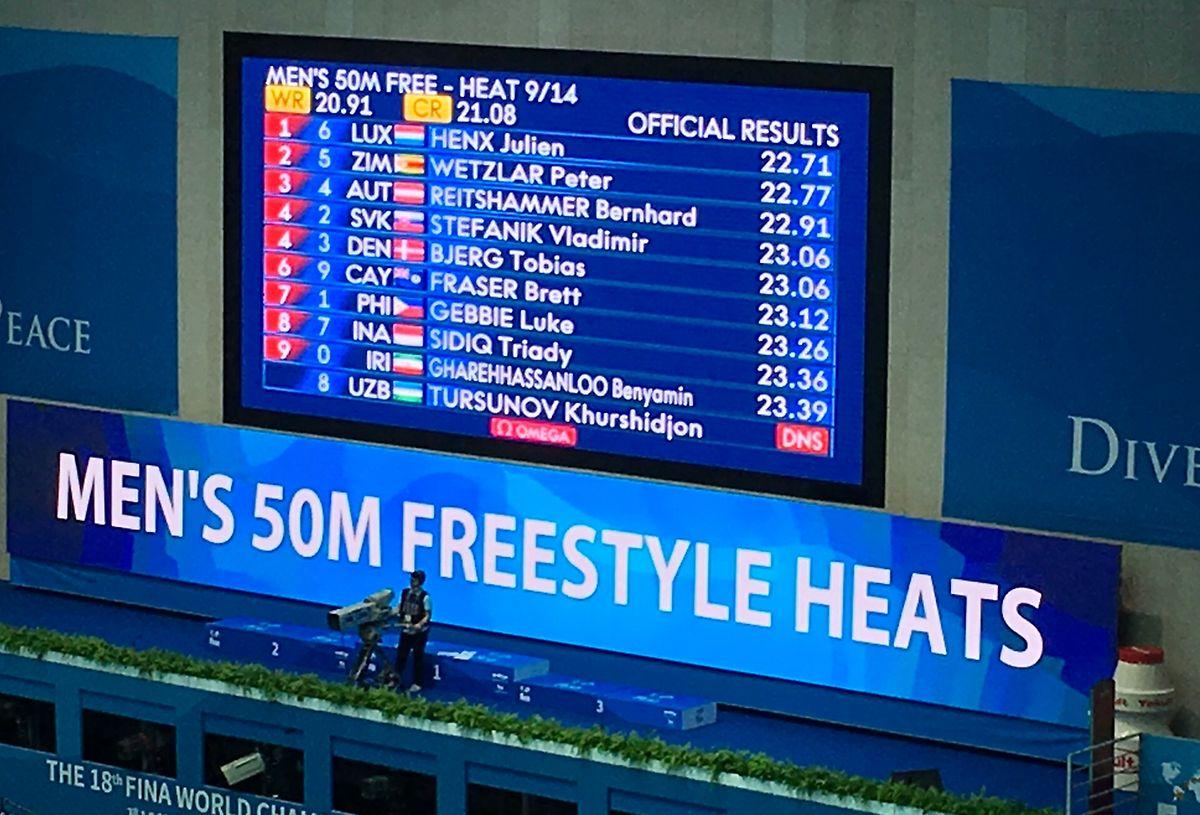 Julien Henx gewann seinen Vorlauf.