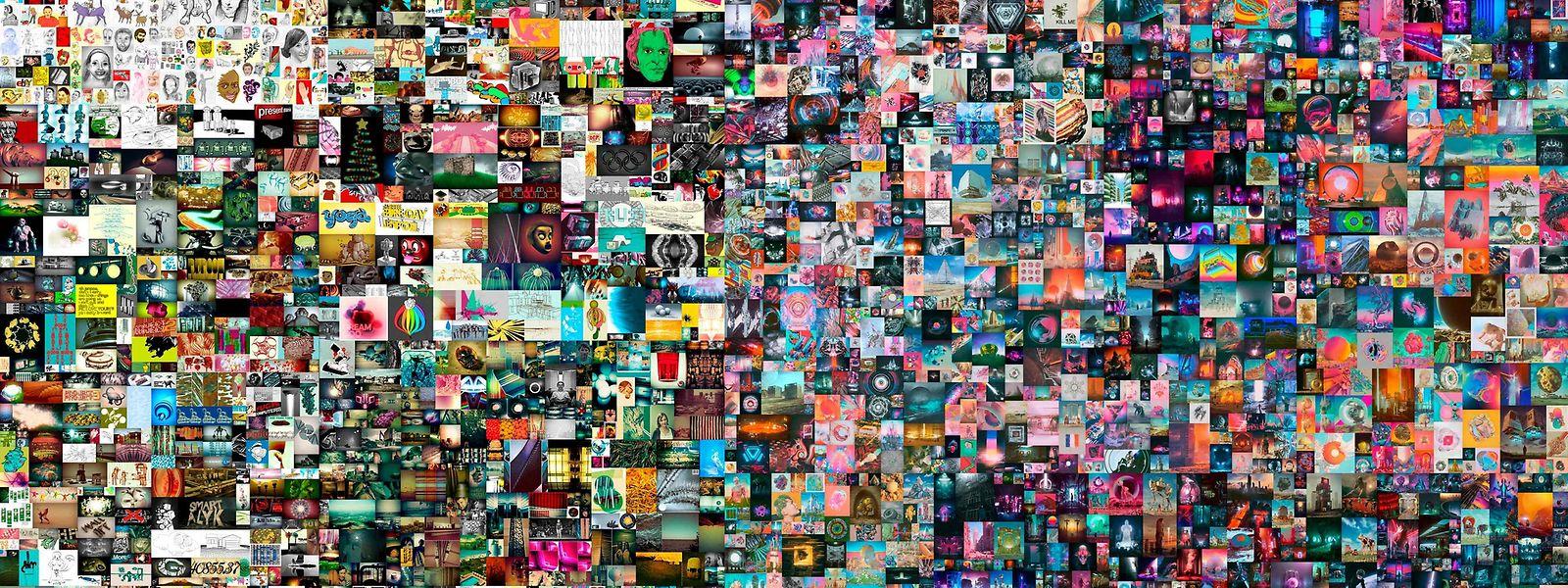 33 Bieter nahmen an der Versteigerung der Collage teil.
