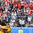 Belgium's players celebrate a goal by Belgium's defender Thomas Meunier during their Russia 2018 World Cup play-off for third place football match between Belgium and England at the Saint Petersburg Stadium in Saint Petersburg on July 14, 2018. / AFP PHOTO / Paul ELLIS / RESTRICTED TO EDITORIAL USE - NO MOBILE PUSH ALERTS/DOWNLOADS