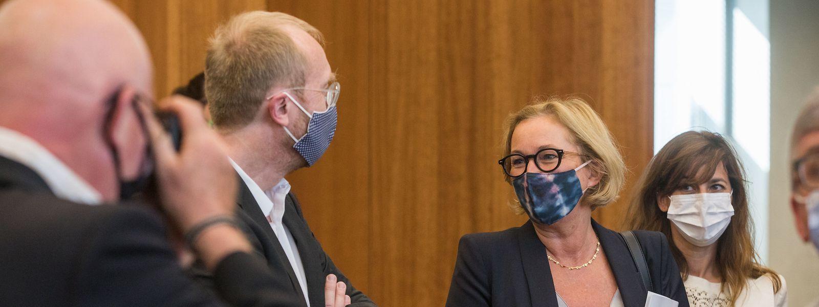Gesundheitsministerin Paulette Lenert bei der Pressekonferenz am Montag.