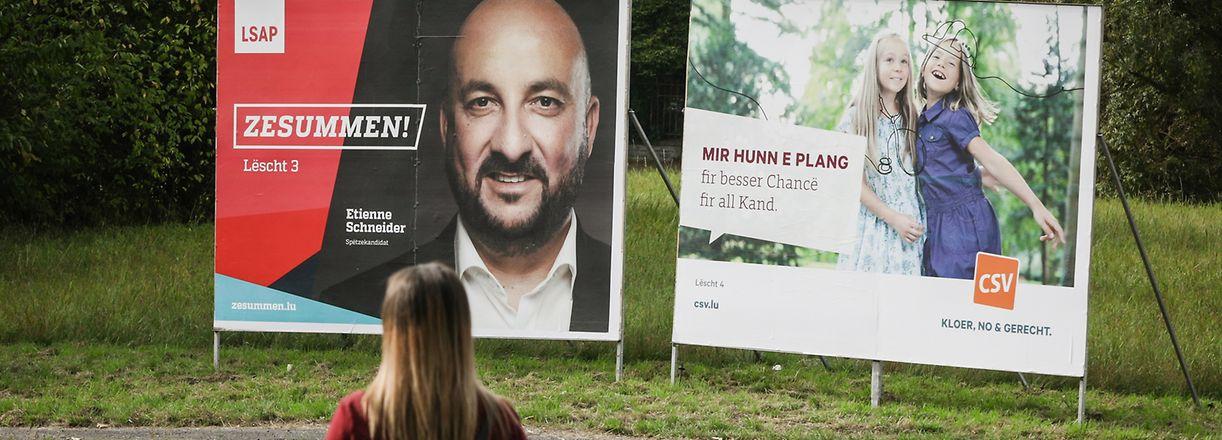 Wahlplakate - Parlamentswahlen 2018 - Photo : Pierre Matgé