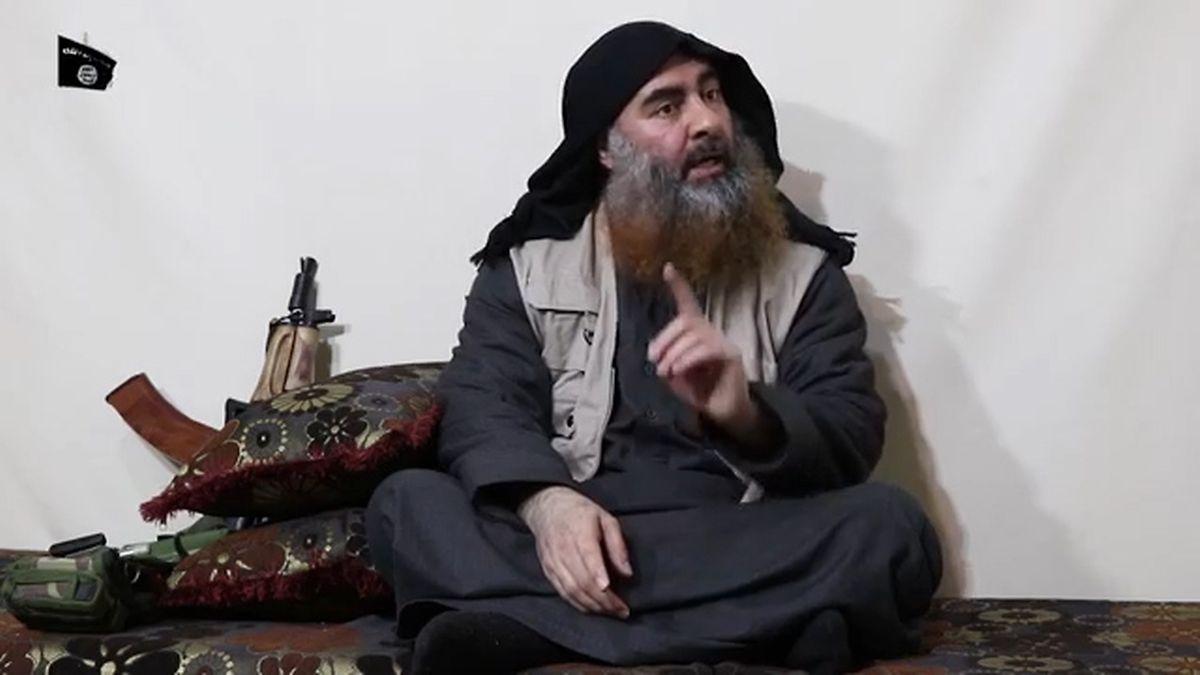 Al-Bagdadi auf einem Video, das im April 2019 veröffentlicht wurde.