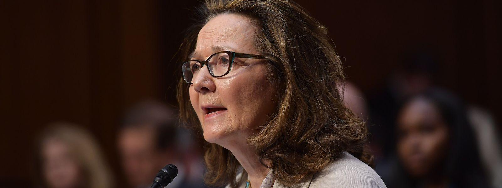 Gina Haspel bei ihrer Anhörung durch den Senat.