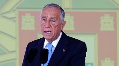 O presidente da República Marcelo Rebelo de Sousa discursa durante o dia das comemorações do 10 de Junho - Dia de Portugal, de Camões e das Comunidades Portuguesas