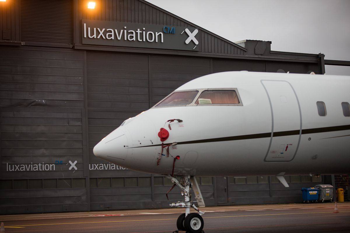 Fünf Prozent der Flotte, die Luxaviation verwaltet, schaut in Luxemburg vorbei, so wie diese Bombardier.