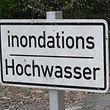 Die Nebenstrecke von Ettelbrück über Grentzingen und Welsdorf nach Colmar-Berg war am Donnerstag wegen der über die Ufer getretenen Alzette gesperrt.