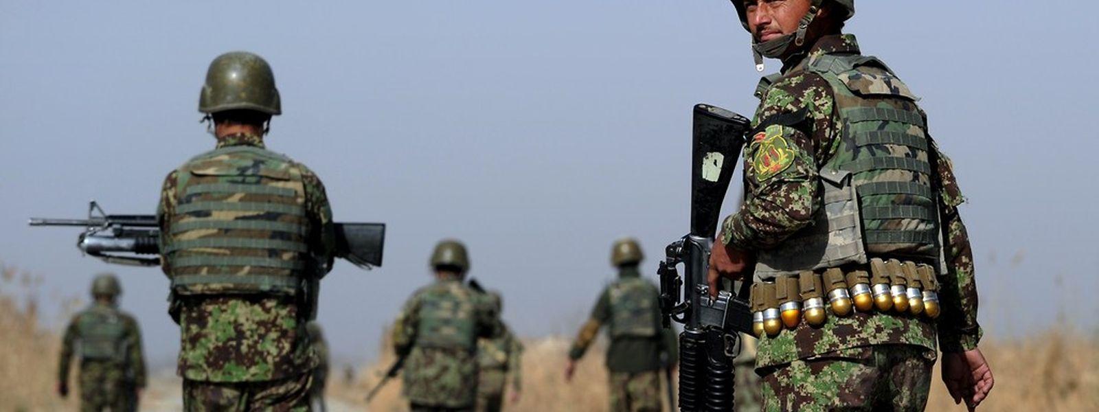 Un soldat afghan, le 10 décembre 2014, dans la province de Kandahar