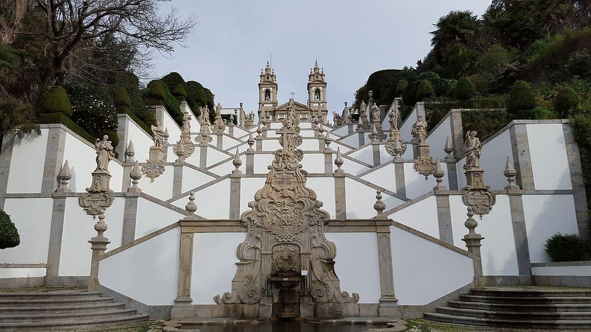 O Santuário do Bom Jesus, em Braga.