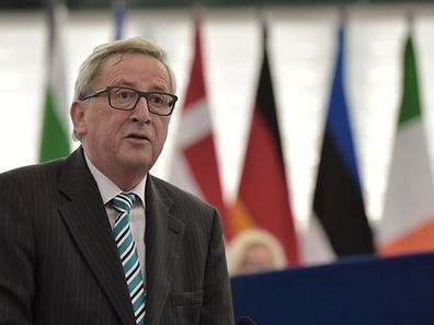 European Commission President Jean-Claude Juncker speaks during a debate on the UK's upcoming in-or-out EU referendum, at the European Parliament in Strasbourg on February 3.