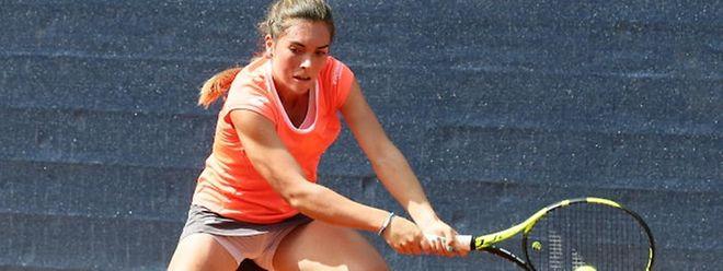 Eléonora Molinaro a peiné dans le premier set face à Ripa.