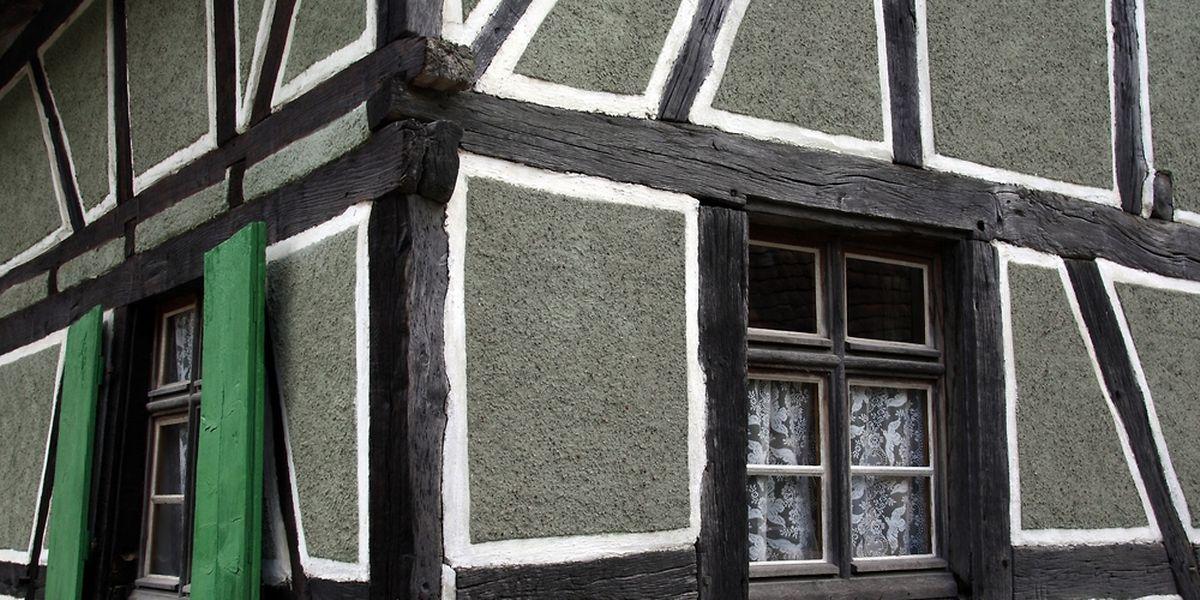 Une maison typique, à Ungersheim.