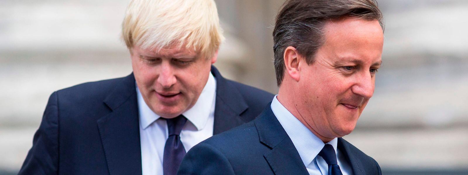 Aus den Zeiten als David Cameron Premier und Boris Johnson Bürgermeister von London waren.