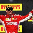 AUSTIN, TX - OCTOBER 21: Race winner Kimi Raikkonen of Finland and Ferrari celebrates on the podium during the United States Formula One Grand Prix at Circuit of The Americas on October 21, 2018 in Austin, United States.   Mark Thompson/Getty Images/AFP == FOR NEWSPAPERS, INTERNET, TELCOS & TELEVISION USE ONLY ==