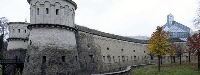 Le fort Thüngen dans le parc des Trois Glands à Luxembourg-ville