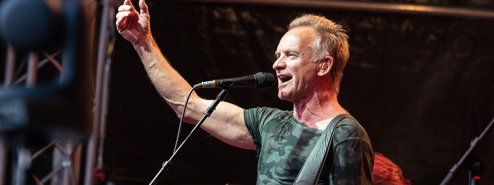 Sting live in Belval im Jahr 2018
