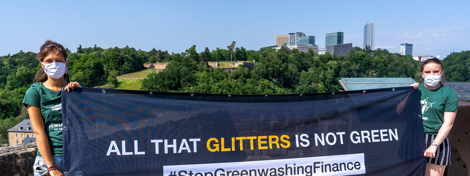 Luxemburg rangiert im Global Green Finance Index unter den führenden grünen Finanzzentren der Welt. Greenpeace fordert, genauer hinzuschauen.