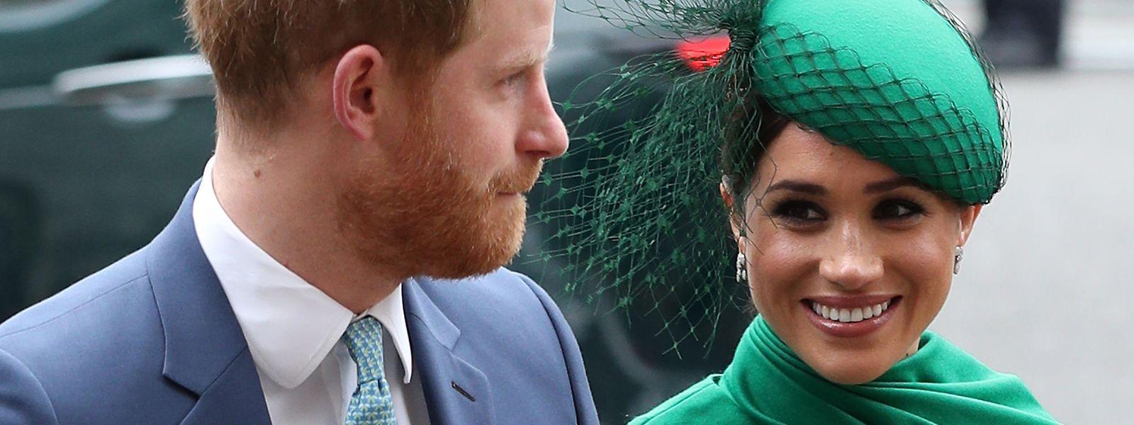 Prinz Harry (L), Herzog von Sussex, und Meghan, Herzogin von Sussex, kommen am Commonwealth-Tag zum Commonwealth Service in Westminster Abbey, London, an. Der Gottesdienst war die letzte offizielle Veranstaltung des Herzogs und der Herzogin von Sussex, bevor sie das königliche Leben aufgaben.