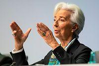 12.12.2019, Hessen, Frankfurt/Main: Die neue Präsidentin der Europäischen Zentralbank (EZB), Christine Lagarde, spricht bei ihrer ersten Pressekonfernz nach der EZB-Ratssitzung. Foto: Frank Rumpenhorst/dpa +++ dpa-Bildfunk +++
