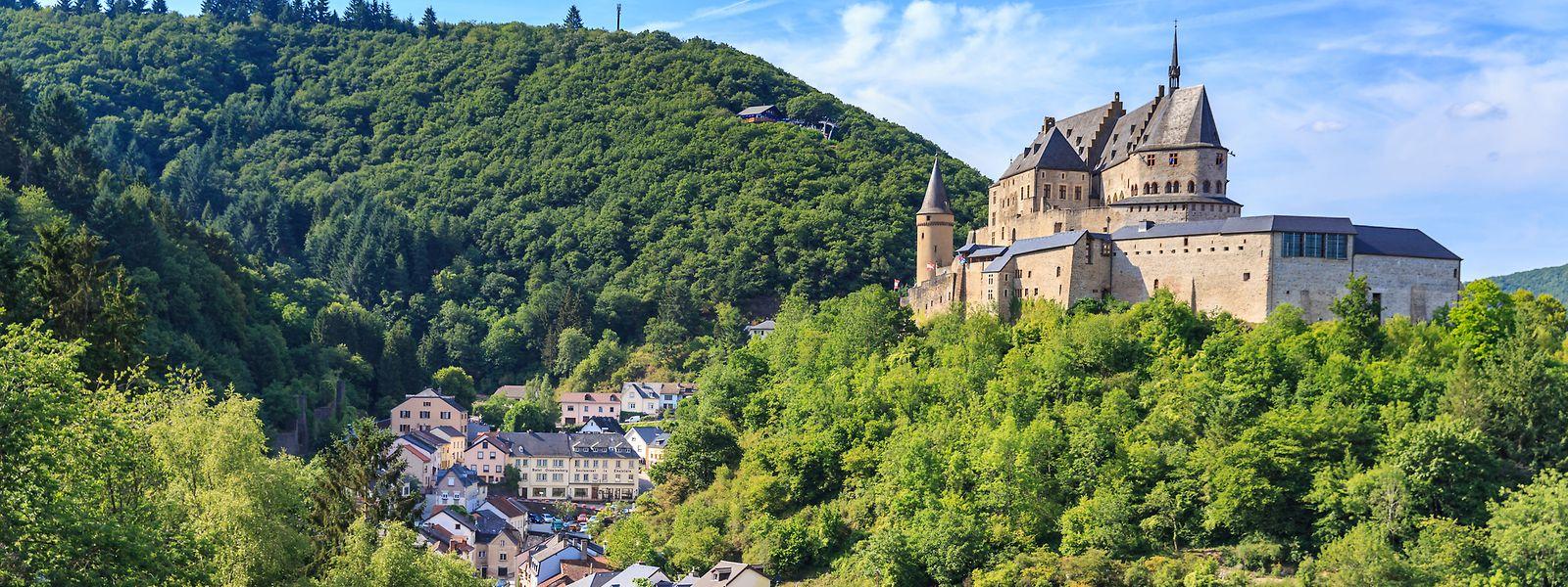 O castelo medieval de Vianden é uma das atrações turística do Grão-Ducado.