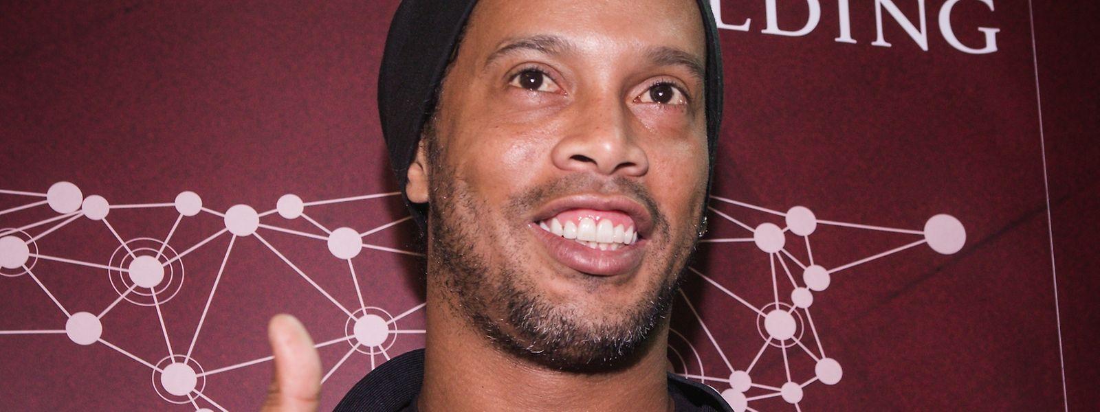 Ronaldinho war am Dienstag zu Besuch in Luxemburg.
