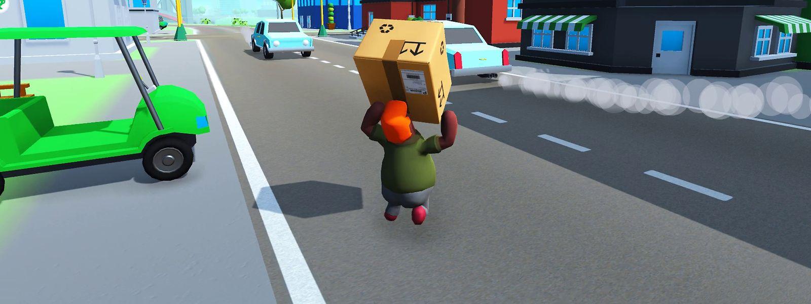 """Der etwas andere Lieferdienst: Beim Game namens """"Totally Reliable Delivery Service"""" – erhältlich für die Konsolen Xbox One, PlayStation 4 und Nintendo Switch sowie für den PC – wird der Paketbote zum gebeutelten Helden."""