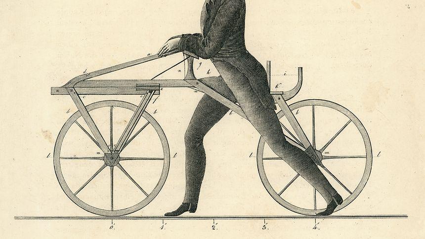 Zeichnung des Laufrads. Verdeckt sind hier die Bremsen - damit es Nachbauer nicht zu einfach hatten.