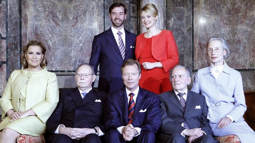 Countess Alix de Lannoy (far right) passed away on Sunday after suffering a stroke