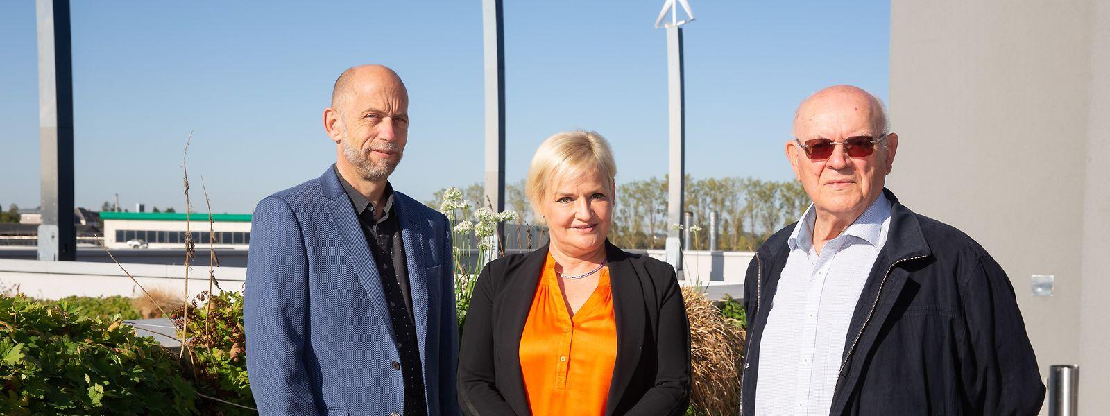 """Daniel Oringer, Martine Ehlinger und Marcel Ehlinger (v.l.n.r.) stehen hinter der """"Group Schuler"""". Sie gehören zu den Großen in der Immoblienbranche."""