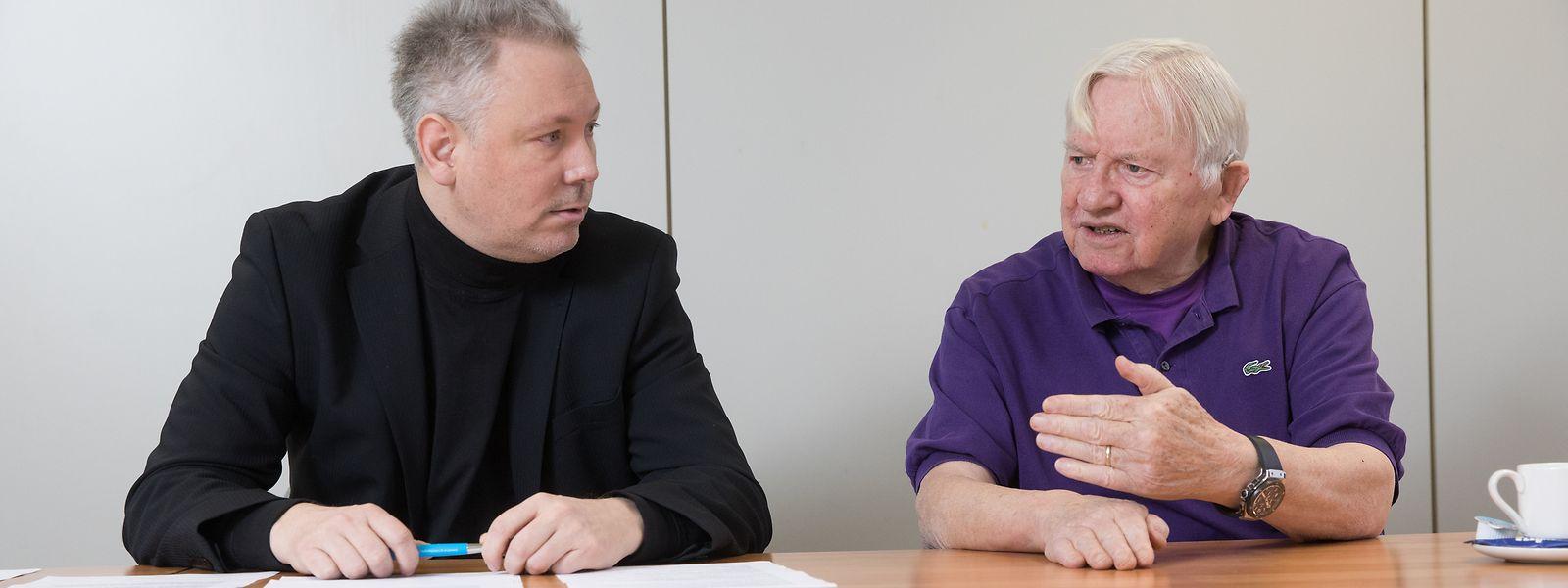 Jérôme Lulling (links) und Lex Roth setzen sich beide auf unterschiedliche Weise für die Förderung der luxemburgischen Sprache ein.