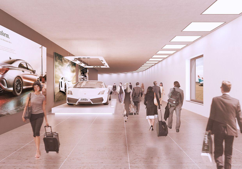 En plus d'un immense P+R de 4.000 places, le site cerra l'ouverture de nombreuses boutiques.