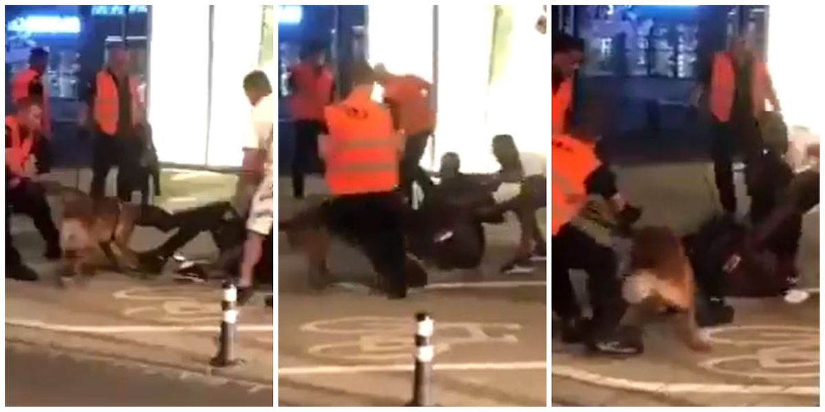 A screenshot of the video of the incident on Saturday night