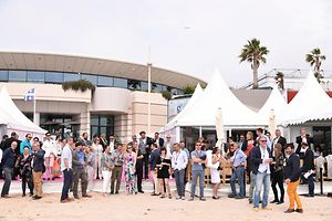 Inauguration of the Luxembourg pavilionat the 70th Cannes Film Festival on May 17, 2017 in Cannes, France.