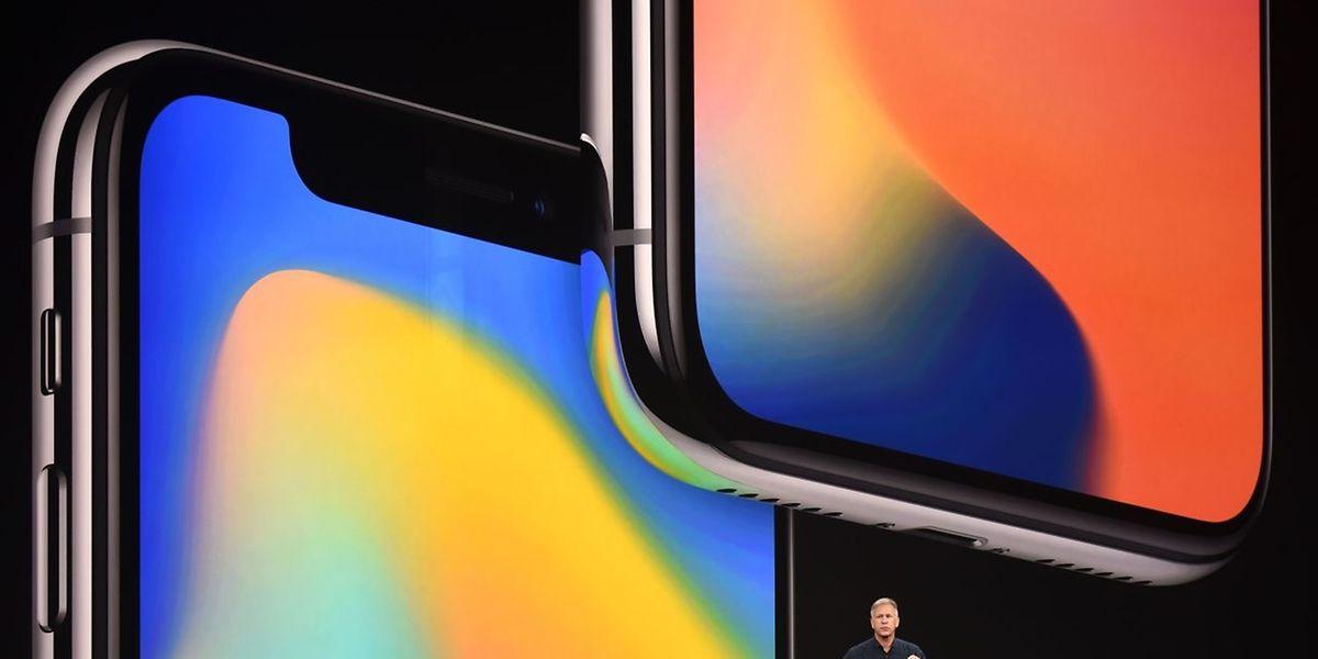 Apples Senior Vice President Philip Schiller bei der Vorstellung des neuen iPhone X.