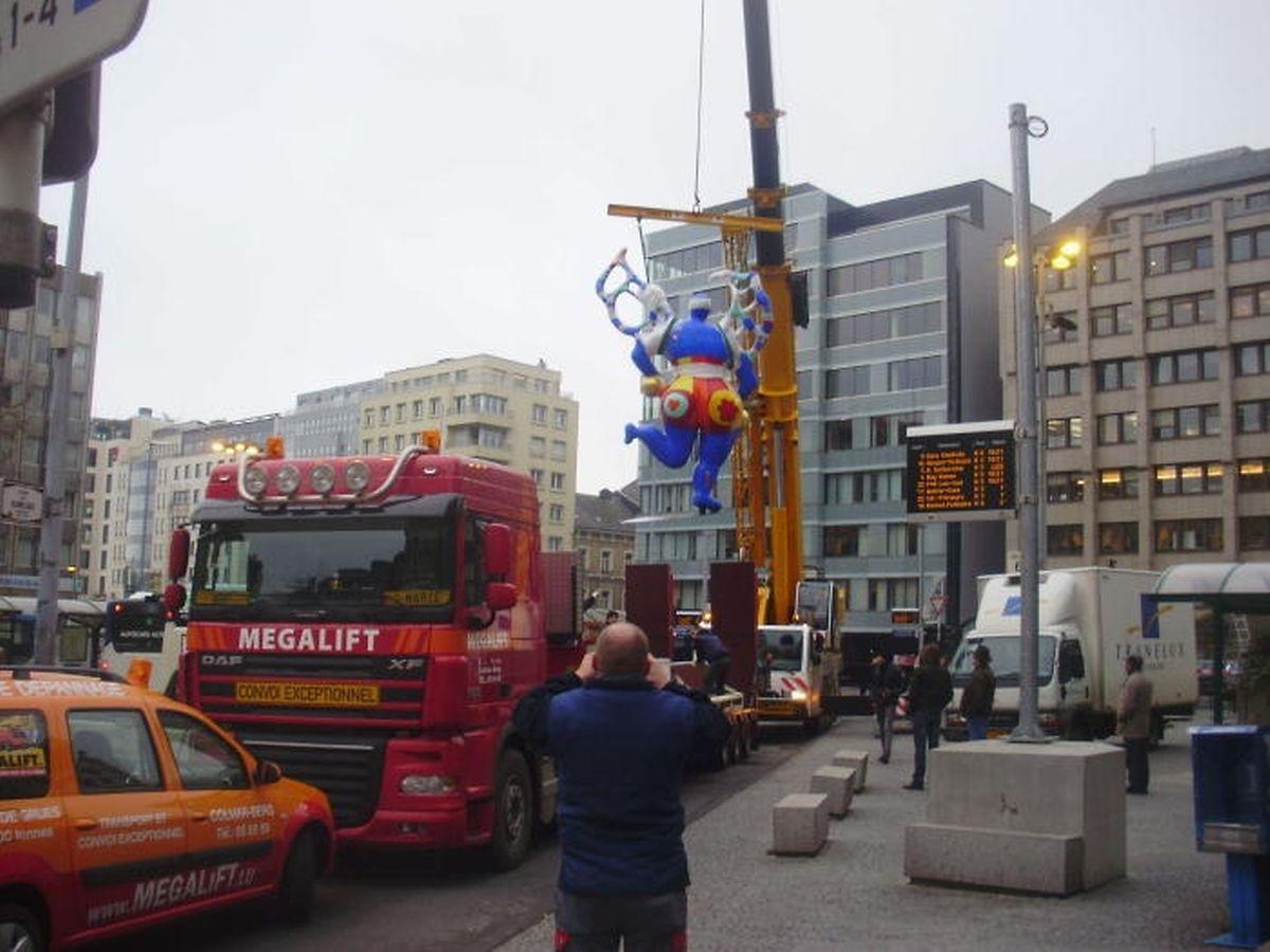 Le 8 décembre 2011, la statue «Nana» de Niki de Saint Phalle avait été déplacée de la place Hamilius en prévision des travaux du nouveau complexe Royal-Hamilius.
