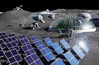 Zukünftig sollen permanente Mondbasen entstehen. Die Energie dafür möchte das Luxemburger Start-up Maana Electric liefern.