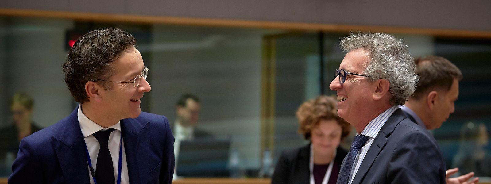 Jeroen Dijsselbloem und Pierre Gramegna, 5.12.2017 in Brüssel.