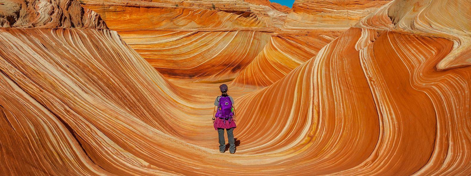 Die Coyote Buttes zwischen Arizona und Utah bestehen aus fragilen Felsenformationen, die geschützt werden müssen.