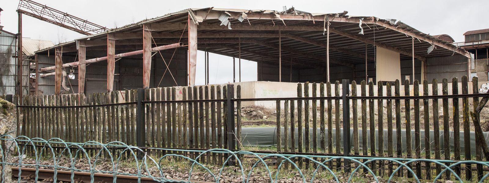 Diese ehemalige Industriehalle wird derzeit abgebaut.