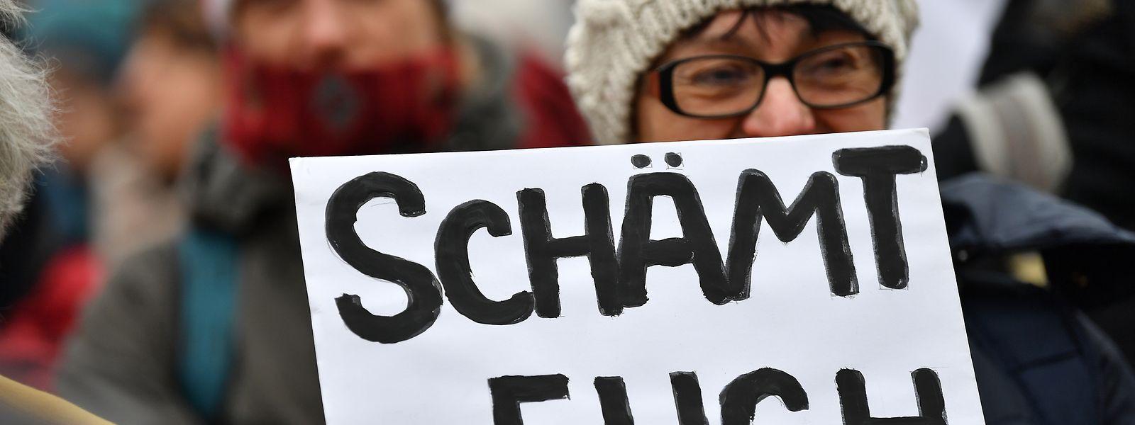 Schritt zu weit nach rechts: Thüringer Bürger äußern ihren Unmut.