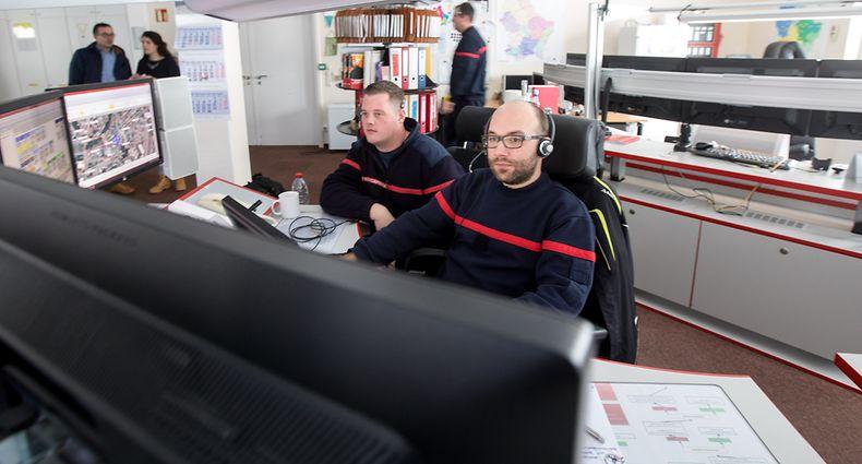 Lok , Central des Secours d`Urgence , C.S.U. 112 , Notrufzentrale , ITV Christopher Schuh , Foto:Guy Jallay/Luxemburger Wort