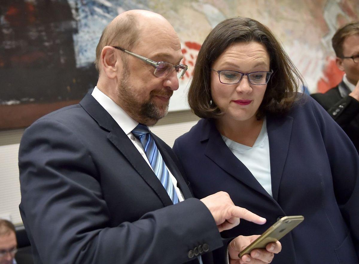 Nahles beerbt nun Martin schulz an der Spitze der SPD.