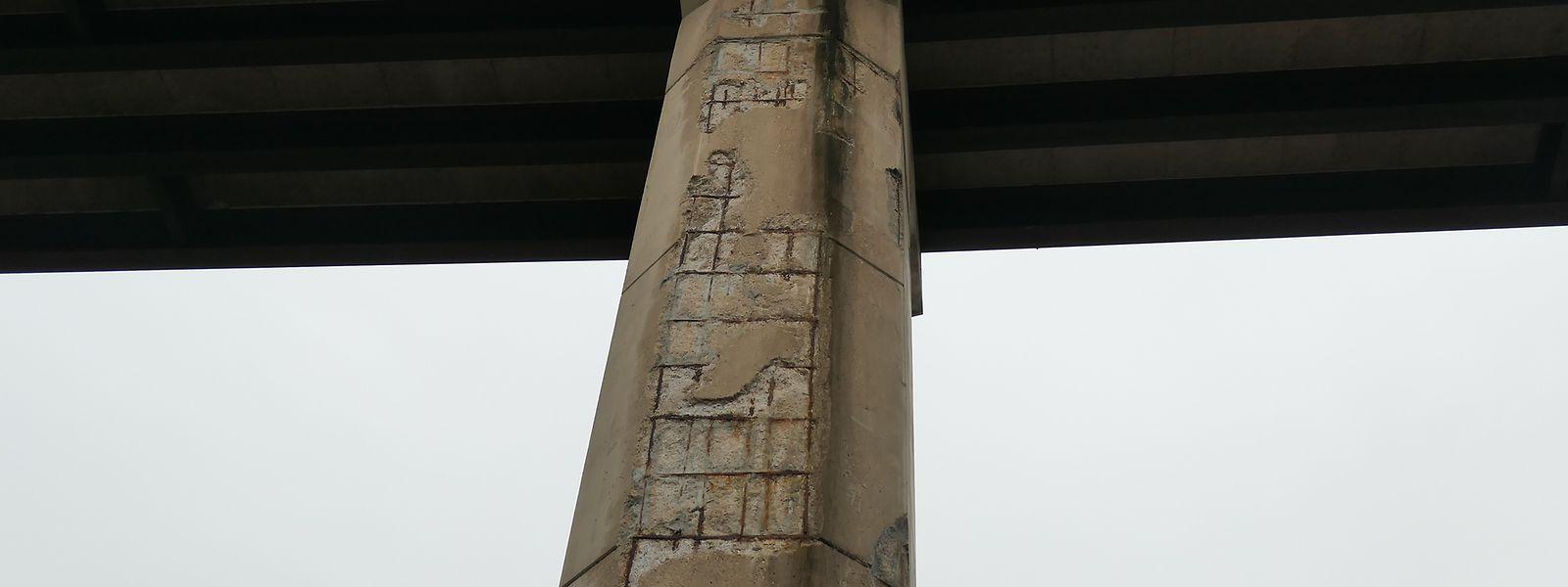 Die Betonabplatzungen an manchen Stützpfeilern des Viadukts Ditgesbaach hatten bereits des Öfteren für Sorgenfalten in Kreisen von Presse und Politik gesorgt.