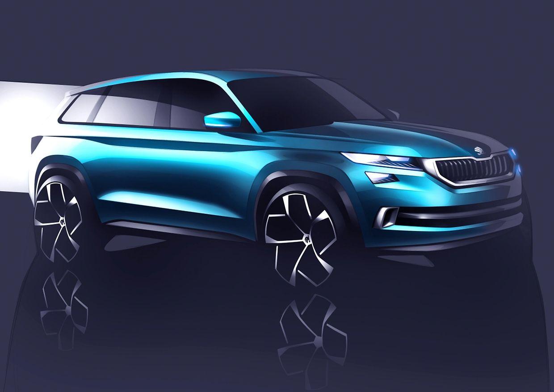 Die Designsprache des ersten reinrassigen SUVs von Skoda soll sich an den anderen Modellen des Herstellers orientieren. Denkbare Markteinführung: Anfang 2017. Im Bild: die Studie Vision S.