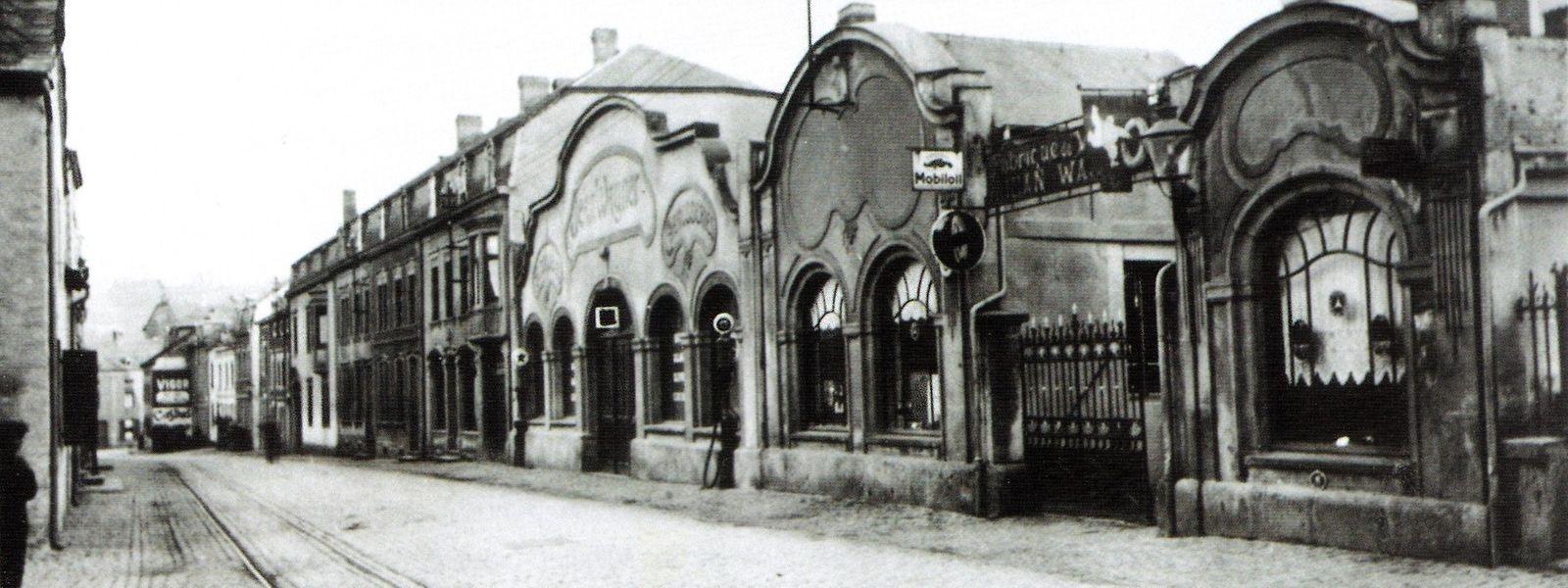 Die Grand Garage Jean Wagner in den 1930er-Jahren. Heute befindet sich in den an der Diekircher Rue de Stavelot gelegenen Räumlichkeiten das Nationale Konservatorium für historische Fahrzeuge.