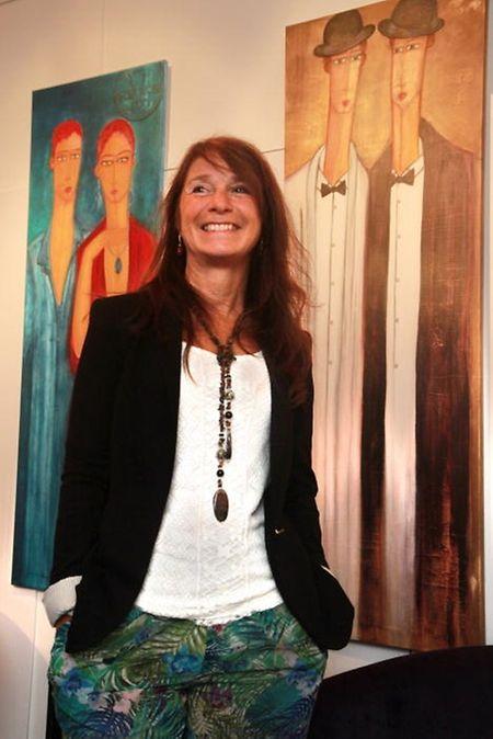 A artista brasileira Rosana Faustino