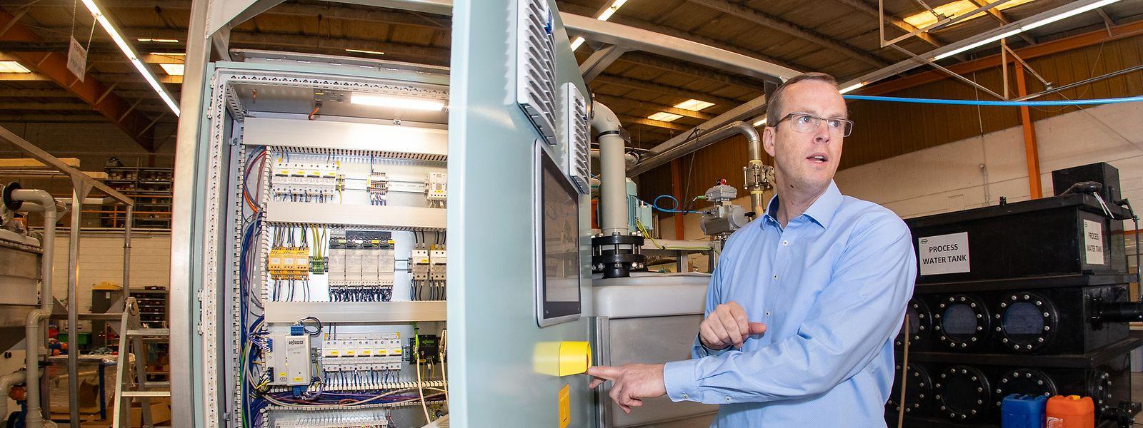 Apateq stellt auch die Schaltschränke für seine Anlagen in Luxemburg her, so Verkaufsleiter Dirk Martin