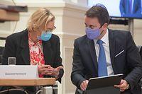 IPO,Chamber Covid Restruktiounen,Xavier Bettel,Paulette Lenert.,Foto: Gerry Huberty/Luxemburger Wort